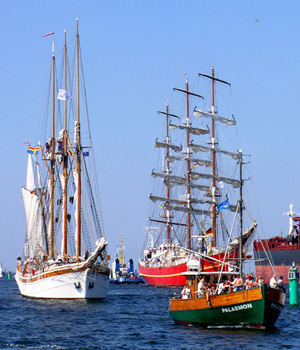 Hanse Sail in Rostock - one of the largest maritime festival in Germany.